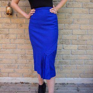 Vintage JM Women's Royal Blue Pencil Skirt